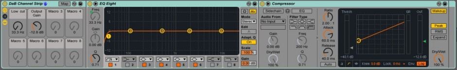 Astuce Ableton Live - Channel Strip