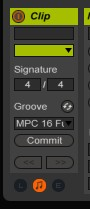 Le groove pool d'Ableton